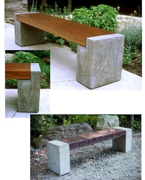 Cement benches 15