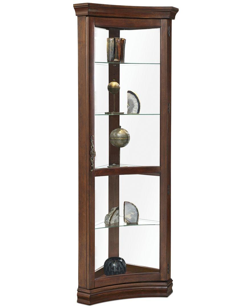 Contemporary Curved Corner Curio Cabinet 6