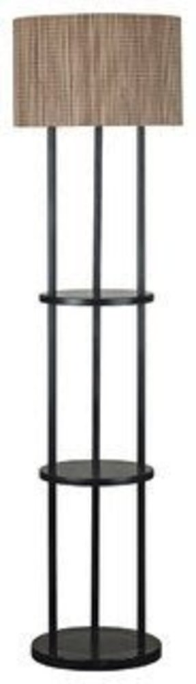 Contemporary kenroy curio oil rubbed bronze floor lamp with shelves