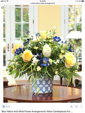 Fish bowl floral arrangements
