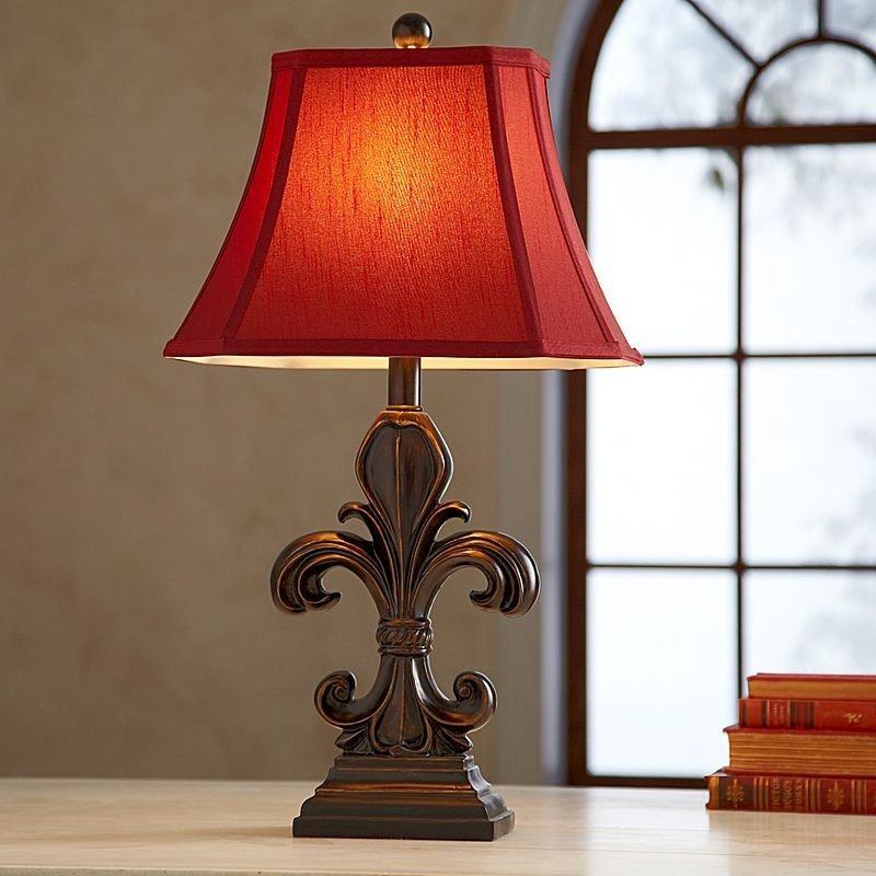 Fleur de lis table lamp foter aloadofball Choice Image