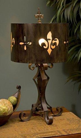 Fleur de lis table lamp foter fleur de lis table lamp 18 aloadofball Choice Image