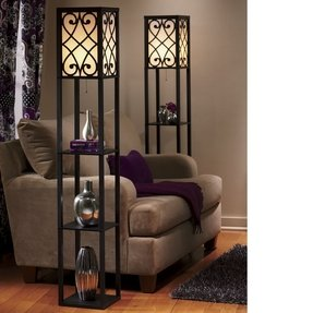 Floor lamp with shelves 18