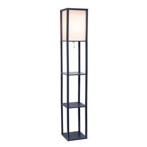 Floor lamp with shelves 2