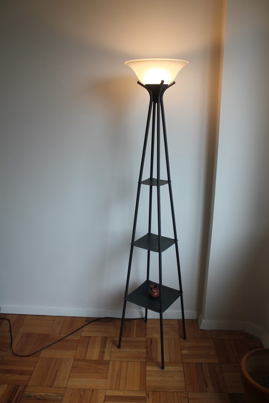 Foter With On Shelves Ideas Lamp Floor IvYfygb76