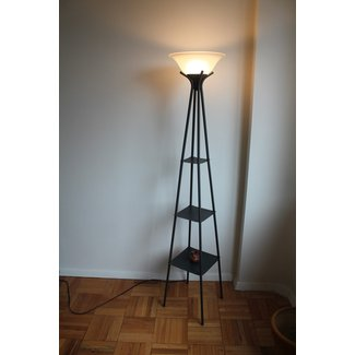 Floor lamp with shelves 3