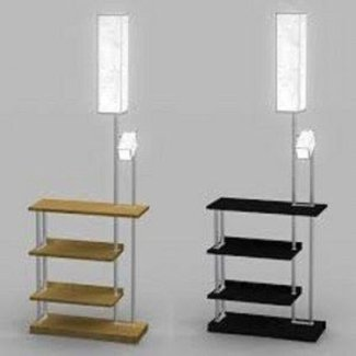 Floor lamp with shelves 7