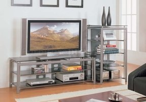 Glass and metal tv stands 24