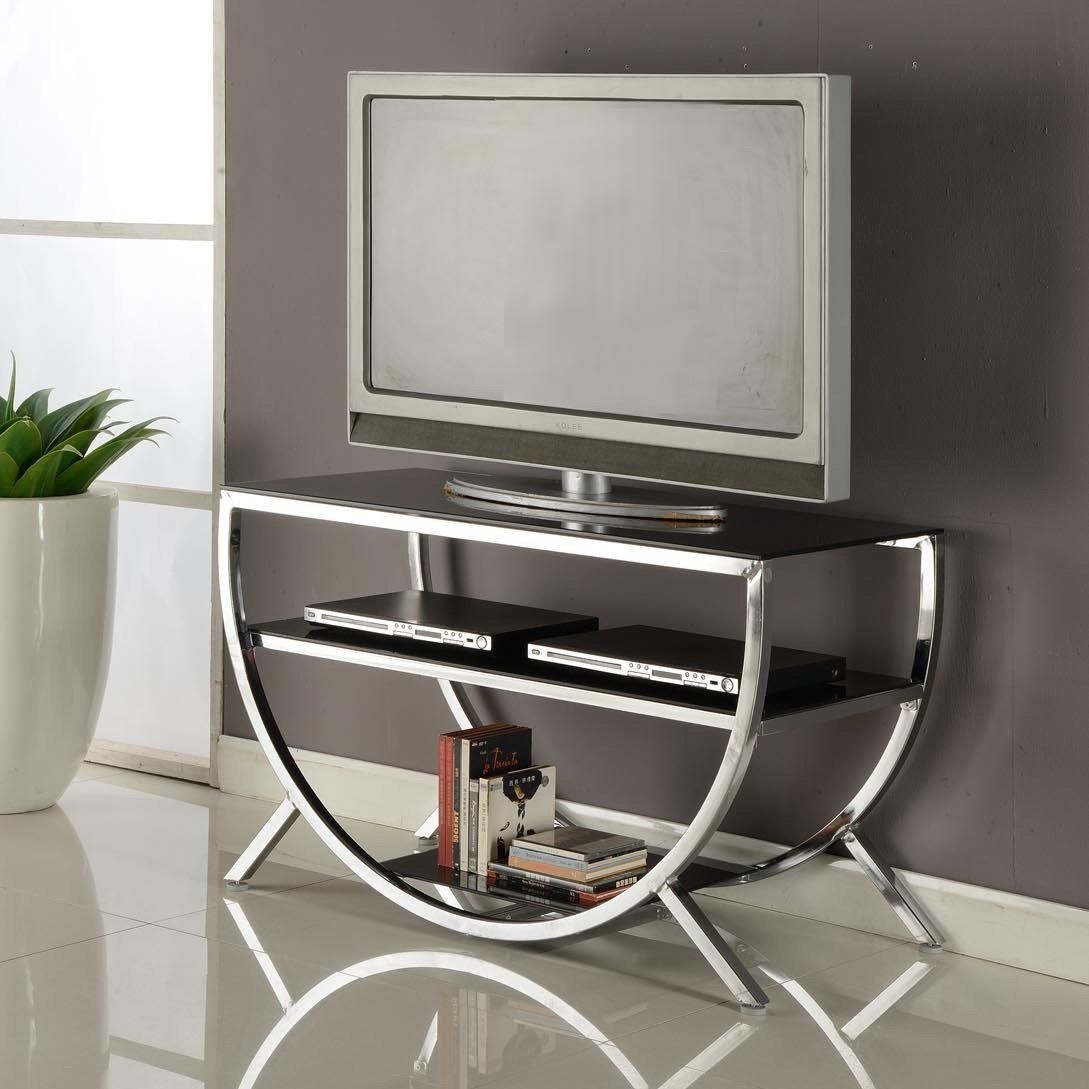 Attrayant Glass And Metal Tv Stands