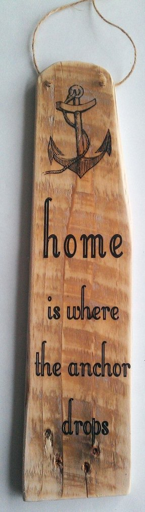 Handmade pallet sign home is where the