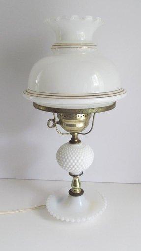 Hobnail milk glass lamp shade lamp globe ring fitting shades