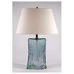 Sea glass table lamp foter hollow glass lamp mozeypictures Images