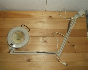 Jewelry fluorescent magnifying light luminaire portable lamp 36 852