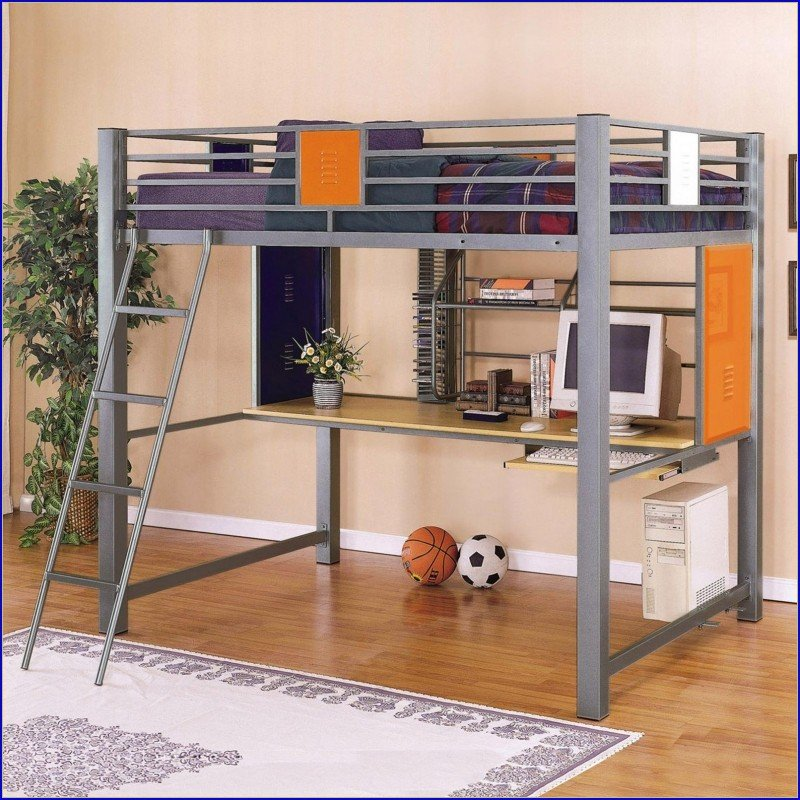 Kids Loft Bed With Desk Underneath 2