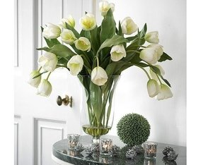 Large artificial flower arrangements vases