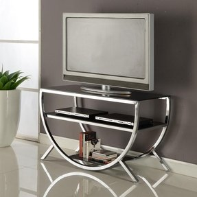 Gl And Metal Tv Stands Ideas On Foter