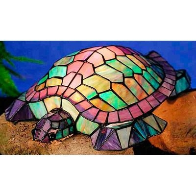 Meyda Tiffany Tiffany Turtle 4.5 H Accent Table Lamp