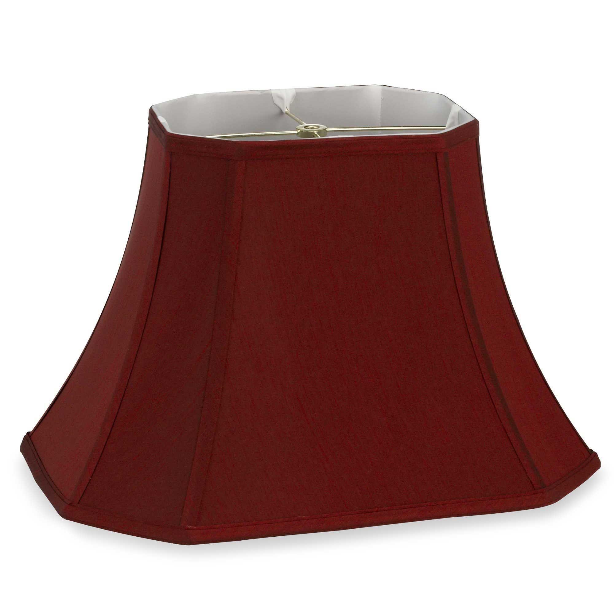 Beautiful Mix Match Large 18 Inch Shantung Cut Corner Rectangular Lamp