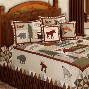 Mountain whispers king size quilt