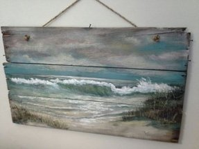nautical wall decor ideas diy original ocean beach seascape painting best nautical wall art decor ideas on foter