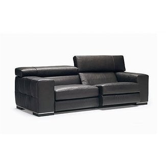 Small leather recliner sofa