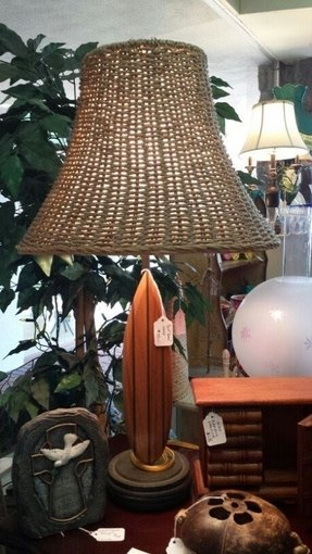 Surfboard lamp beach theme