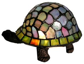 Tiffany style turtle accent lamp 5