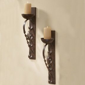 Wrought Iron Candle Sconce - Foter