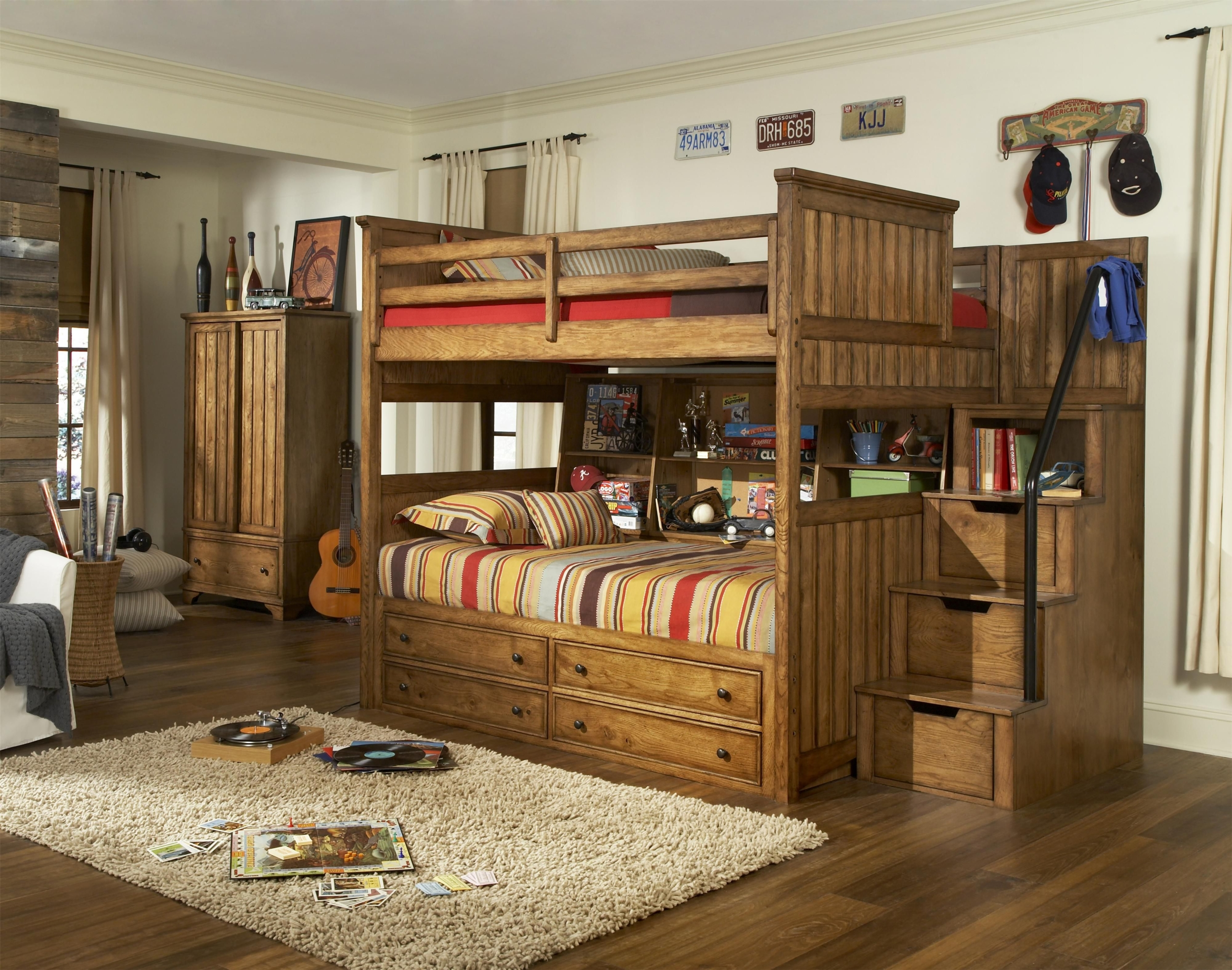 Twin Over Full Bunk Beds With Stairs 1