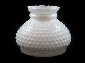 Milk glass lamp shade foter vintage fenton art glass white hobnail milk glass lamp shade aloadofball Gallery