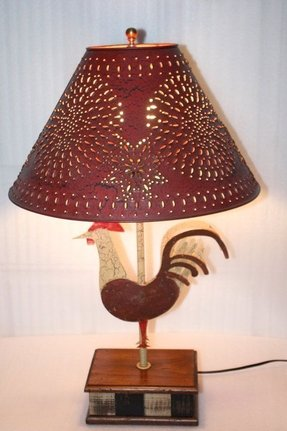 Rooster Table Lamp Foter
