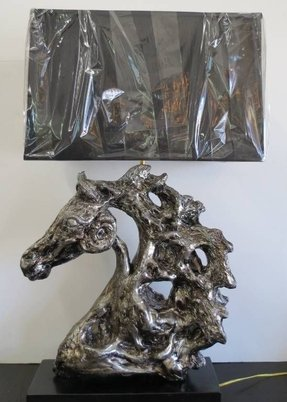 Western horse table lamp 23