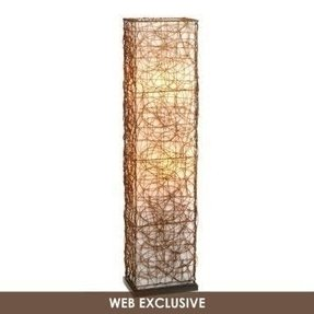 Wicker floor lamp 12