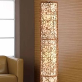 Wicker floor lamp 2