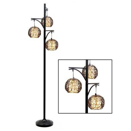 Wicker Floor Lamp 36