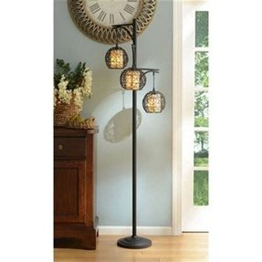 Wicker floor lamp 5