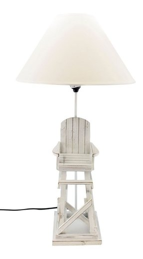 Wood lifeguard chair table lamp 40 watt bedroom nightstand beach