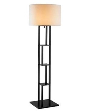 Adesso 6288-01 Rhinebeck Floor Lamp, Black