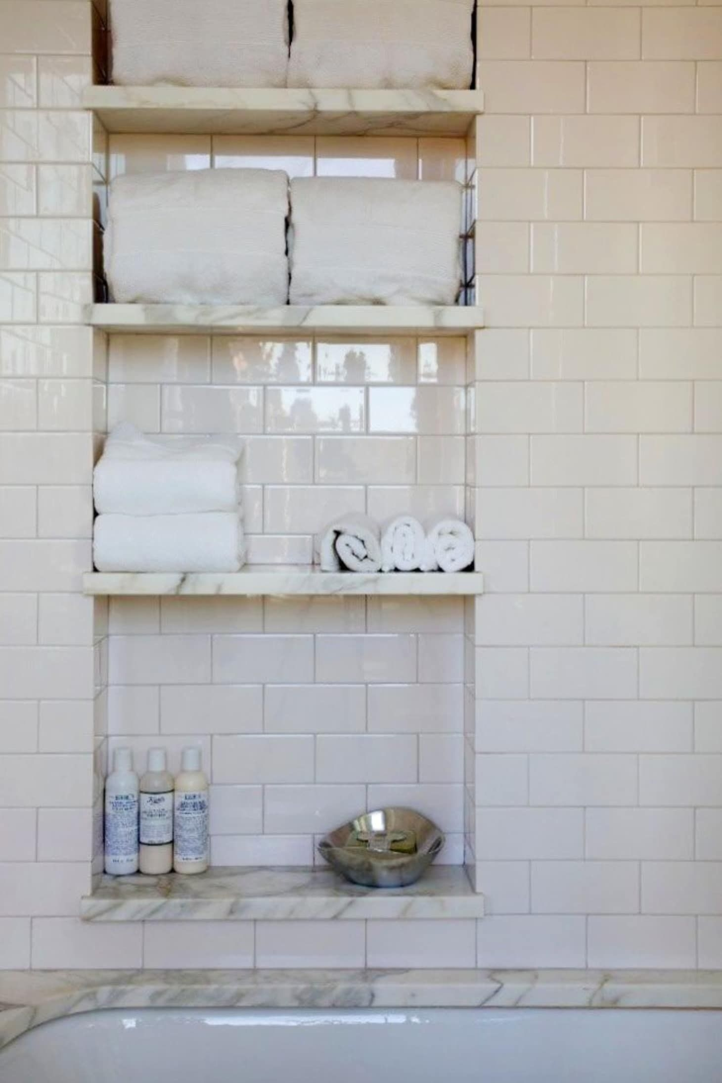Genial Bathroom Wall Storage Shelves 5