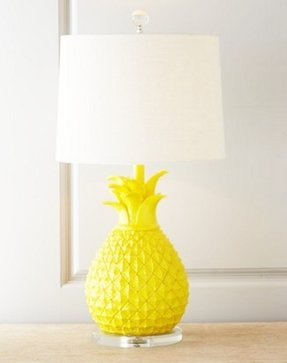Brass pineapple lamp 16