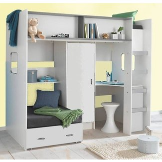 Cabin Bed With Desk And Futon