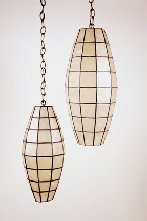 Capiz hanging lamp 15