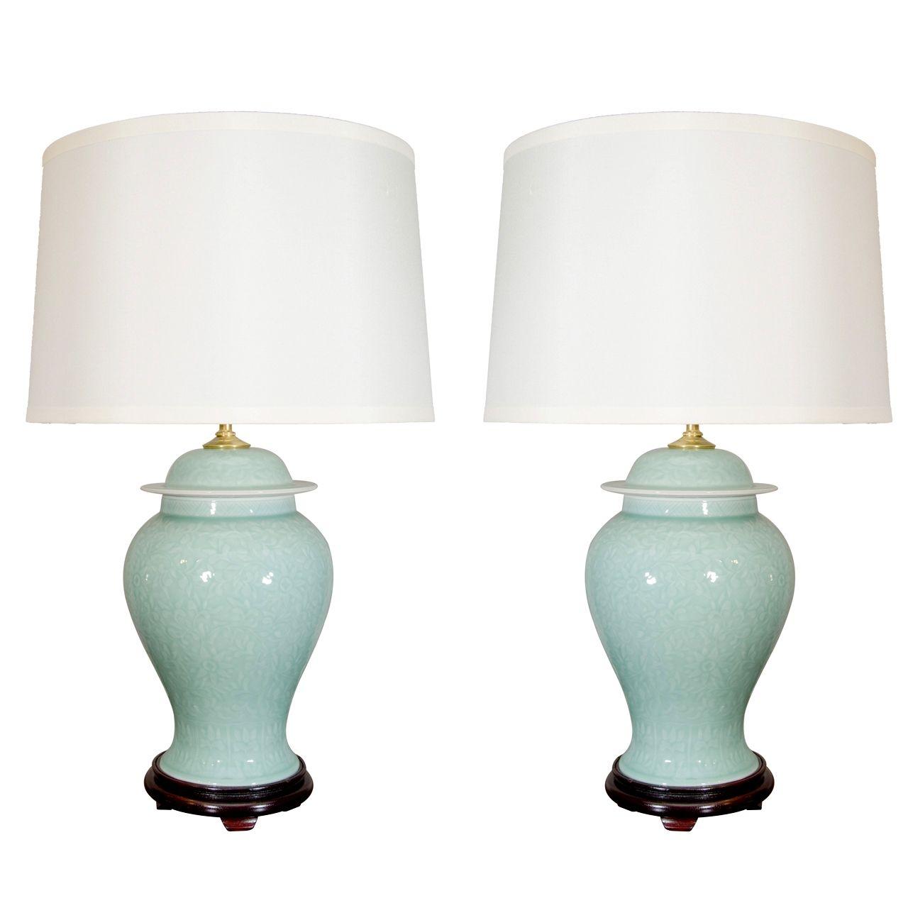 Celadon Porcelain Table Lamp 10