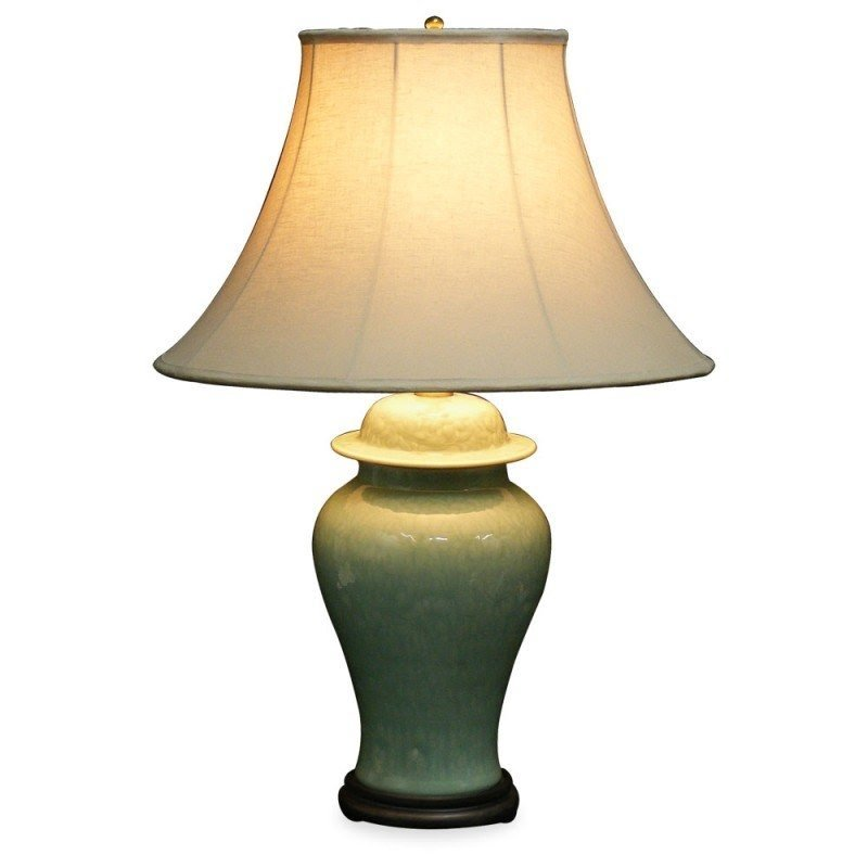 Celadon Porcelain Table Lamp 11