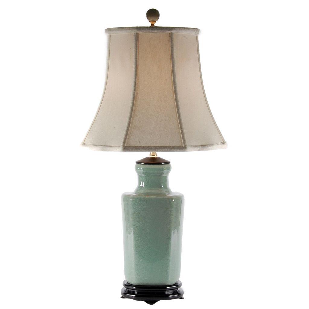 Merveilleux Celadon Porcelain Table Lamp 9