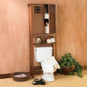 Connor bath spacesaver mission oak over toilet storage bathroom cabinet