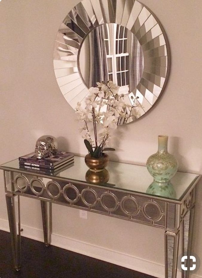 Gentil Console Table With Mirror Antique