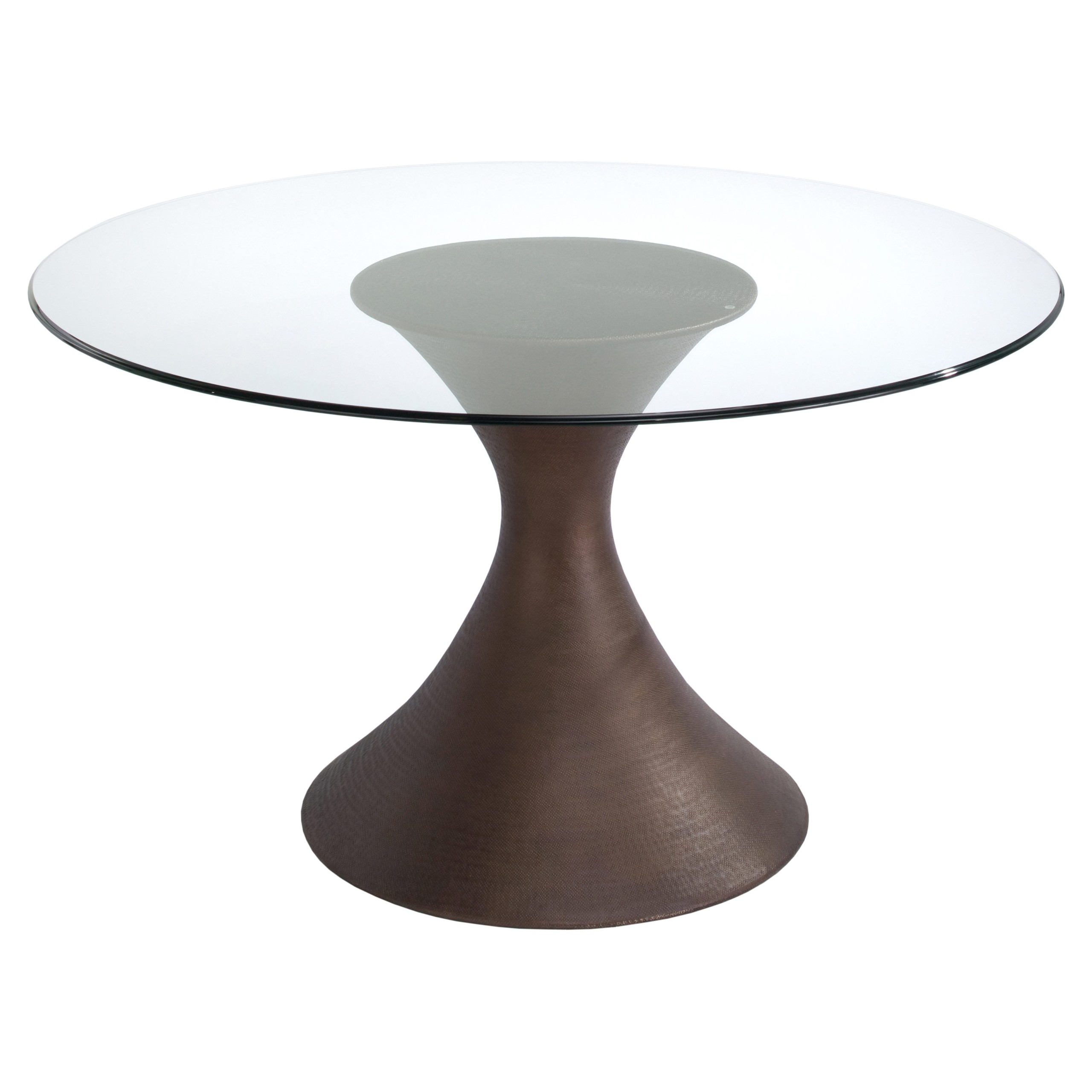 Glass Dining Table With Wood Base 1