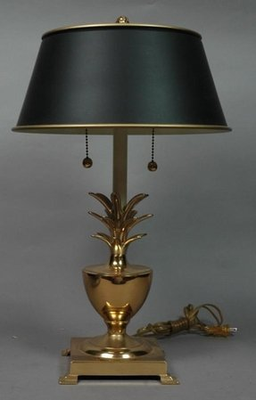 Hollywood regency brass pineapple lamp 1