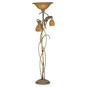 Kathy Ireland Parrot Paradise Torchiere Floor Lamp